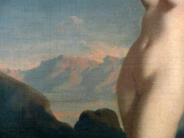 Théodore Chassériau, 1819-1856, Vénus anadyomène, 1838, dét., musée du Louvre